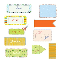 Sewing and needlwork set for handmade vector