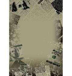 dollar border vector image