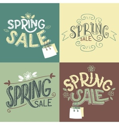Spring sale labels set vector