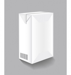drink carton vector image