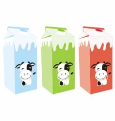 Milk carton boxes vector