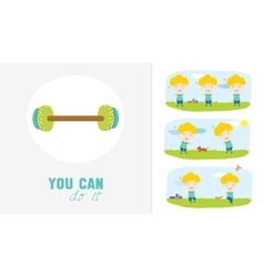 Motivational posters of sport healthy lifestyle vector