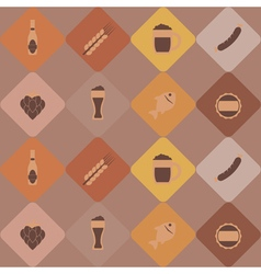 Seamless pattern with consumption of beer vector