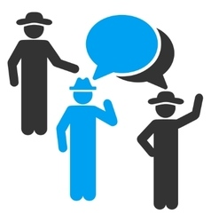 Gentlemen discussion icon vector