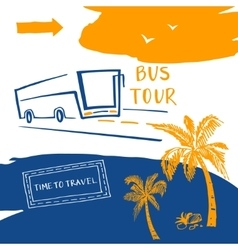 Poster for the travel and tourism resort logo for vector