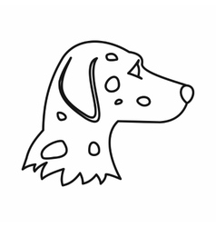 Dalmatians dog icon outline style vector