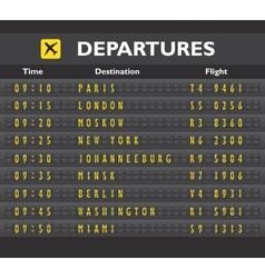 Airport board print vector