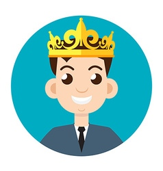 Businessman crown vector
