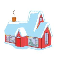 Children in house before christmas vector