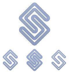 Color line science logo design set vector