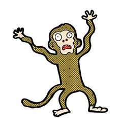 comic cartoon frightened monkey vector image