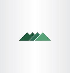 Green sign mountain logo icon element vector