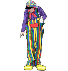 Happy clown with colorful pants vector
