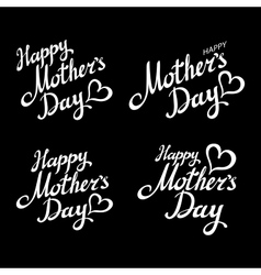 Happy mothers day chalk typography greeting cards vector