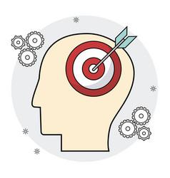 Head human target brain creativity vector