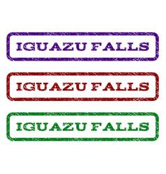 Iguazu falls watermark stamp vector