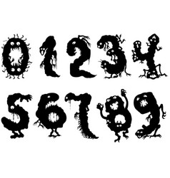 Monsters numbers set vector