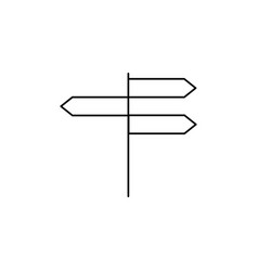 navigation panels icon vector image