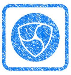 Nem currency framed stamp vector