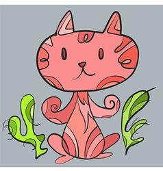 Pinkcatart vector