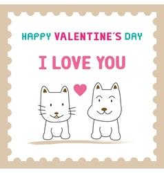 Romantic card62 vector image vector image