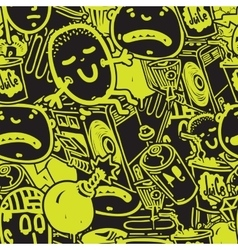 Seamless pattern graffiti vector
