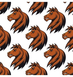 Seamless pattern with majestic stallion vector