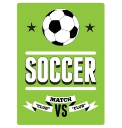 Soccer typographical vintage style poster vector image vector image