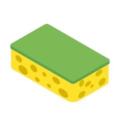 Sponge isometric 3d icon vector