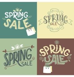 Spring sale labels set vector image