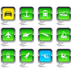 Transport balloon icons vector image