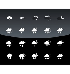 Weather icons on black background vector image vector image