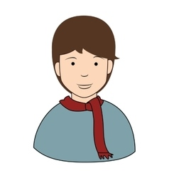 Young male profile icon vector