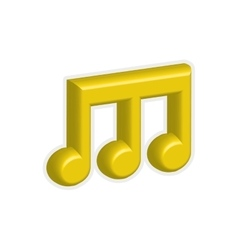 Music note sound melody icon graphic vector
