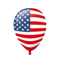 Balloon america flag usa vector