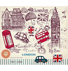 London postcard vector image