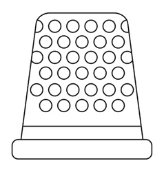 Thimble icon outline style vector