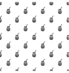 tea cup used mate or terere in argentina pattern vector image