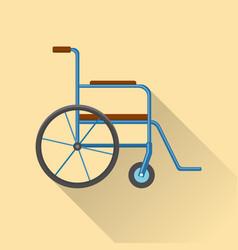 Flat style wheelchair icon vector