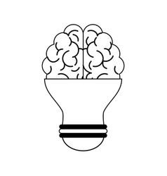 Human brain and lightbulb icon imag vector