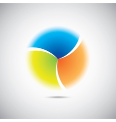 Modern colorful geometrical circle vector