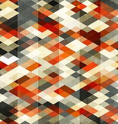 Vintage red rhombus seamless pattern vector