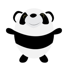 Cute little panda vector