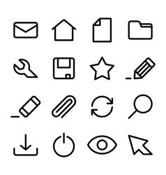 Crisp interface icons vector