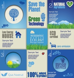 Modern blue ecology background vector image