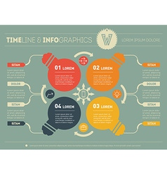 Infographics business concept with 4 options parts vector