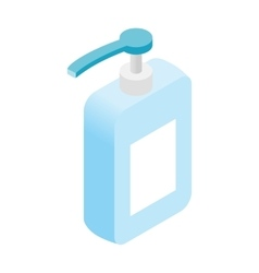 Liquid soap dispenser isometric 3d icon vector