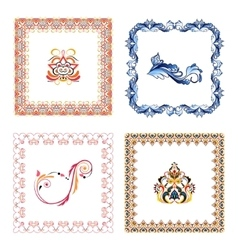 Set of elegant frames in color vector