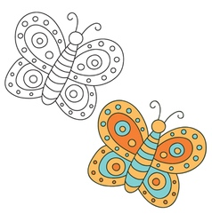 Hand drawn butterfly vector
