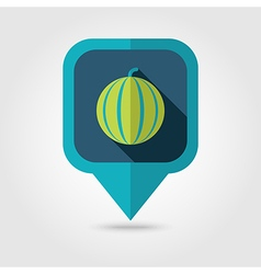 Watermelon flat pin map icon map pointer vector